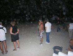 Pétanque nocturne au camping